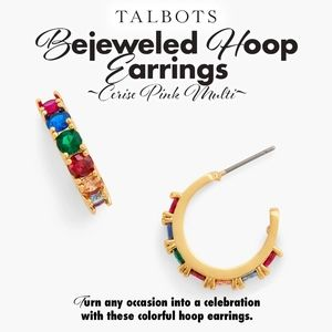 Bejeweled Hoop Earrings